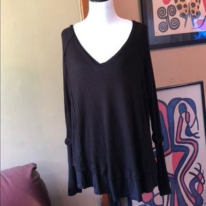 NEW Free People oversized black thermal top